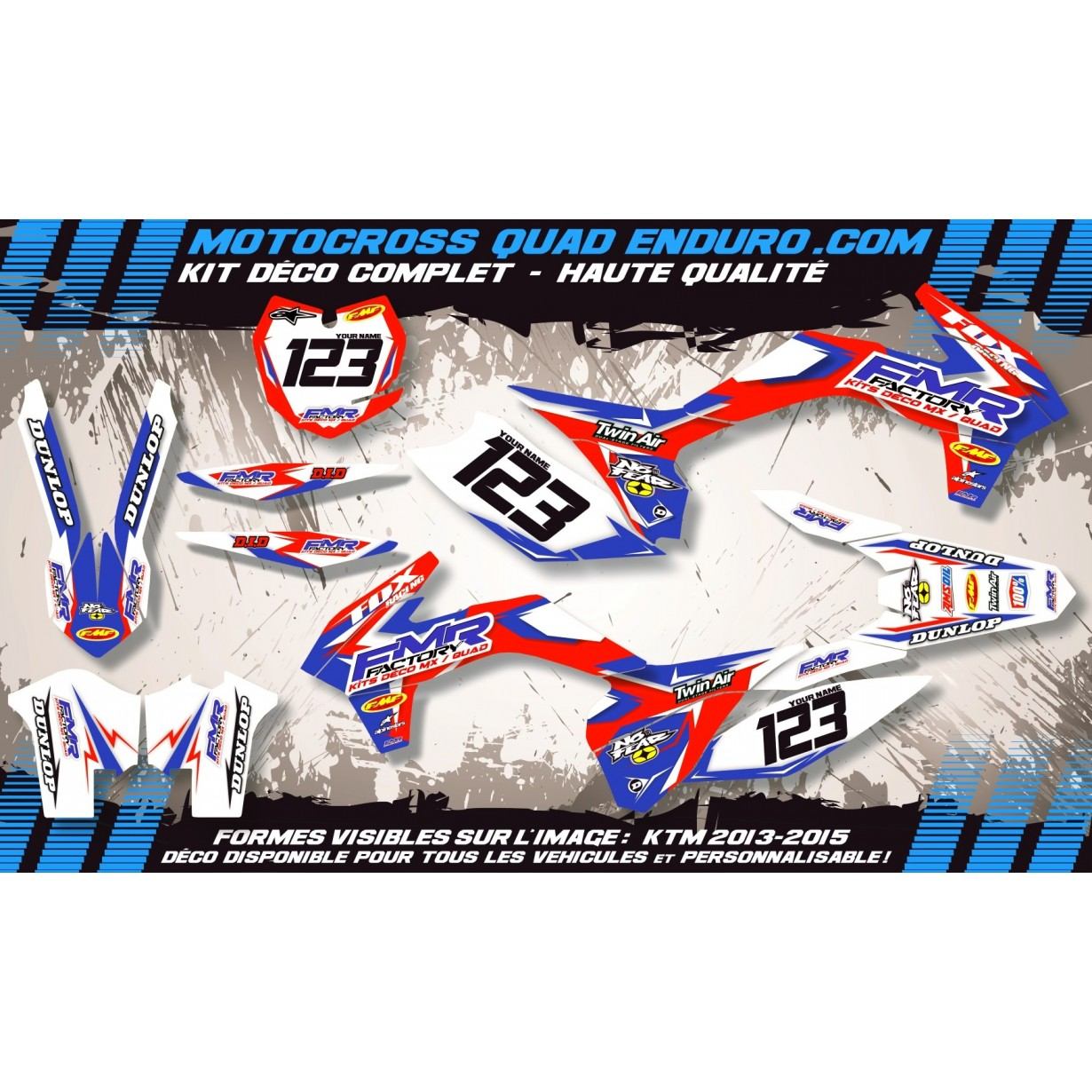 KIT DÉCO Perso TC 250 à 510 05-07 Fmr Factory MA13A
