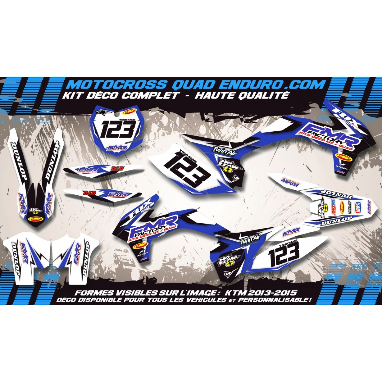KIT DÉCO Perso 350 RAPTOR Quad Fmr Factory MA13E