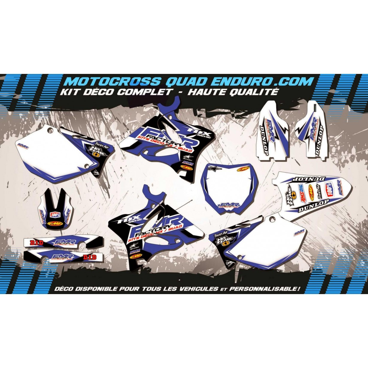 KIT DÉCO Perso 125-250 YZ 02-14 Fmr Factory MA13E