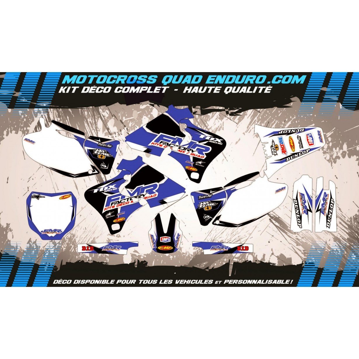 KIT DÉCO Perso 250-400-426 YZF 98-02 Fmr Factory MA13E