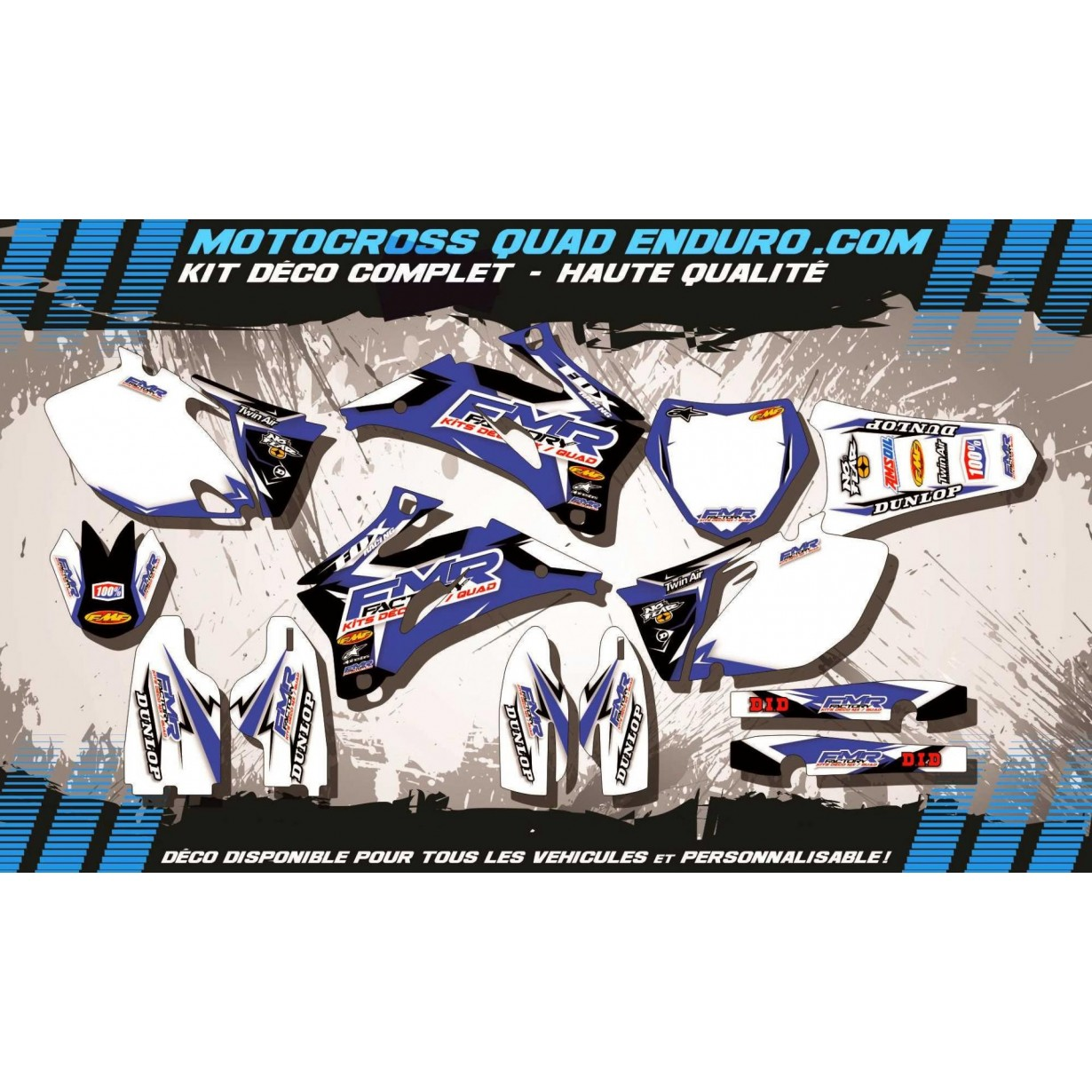 KIT DÉCO Perso 250 / 450 YZF 06-09 Fmr Factory MA13E