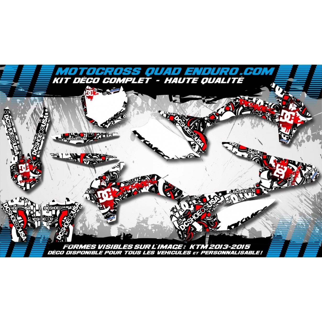 KIT DÉCO Perso 250 CRF 04-05 DC B&W MA15A