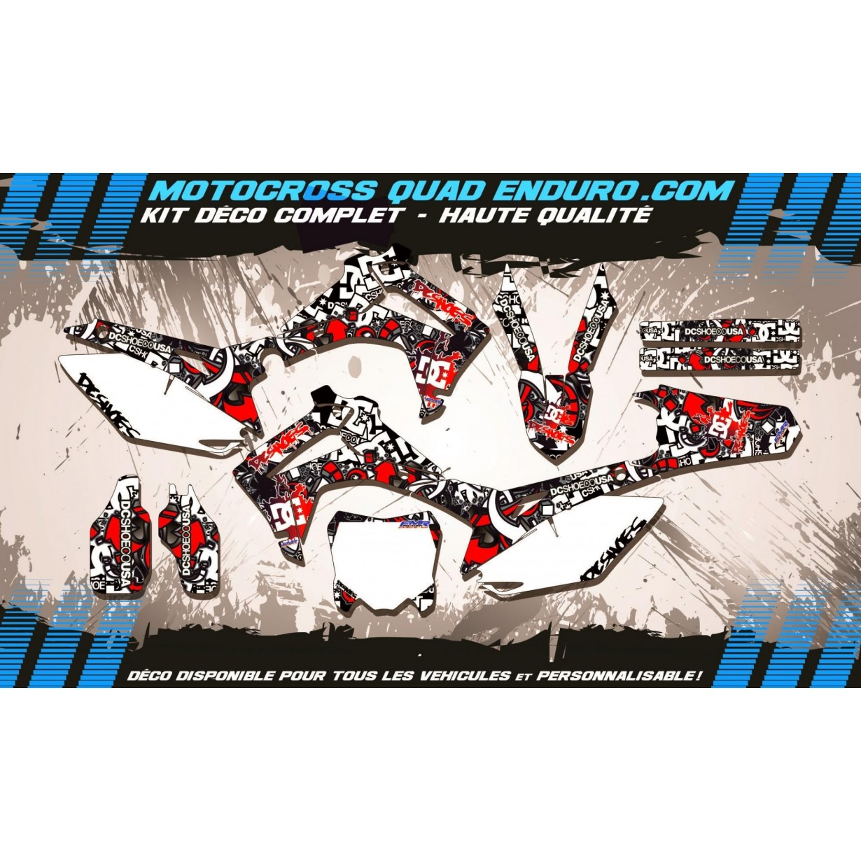 KIT DÉCO Perso 250 CRF 14-18 DC B&W MA15A