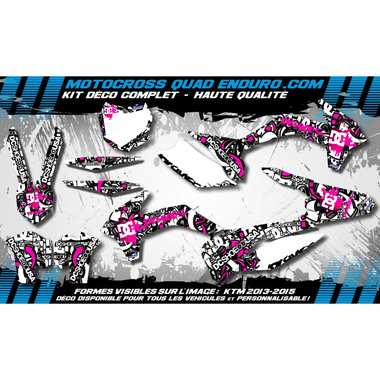KIT DÉCO Perso 250 CRF 10-13 DC B&W MA15P