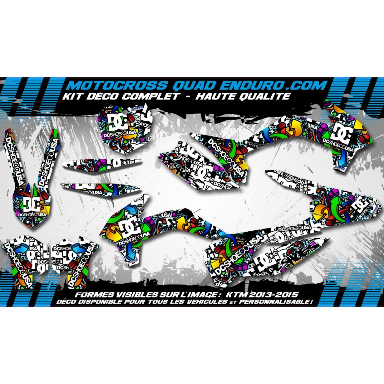 KIT DÉCO Perso 125-250 YZ UFO LOOK 4T 02-14 DC Shoes MA14A