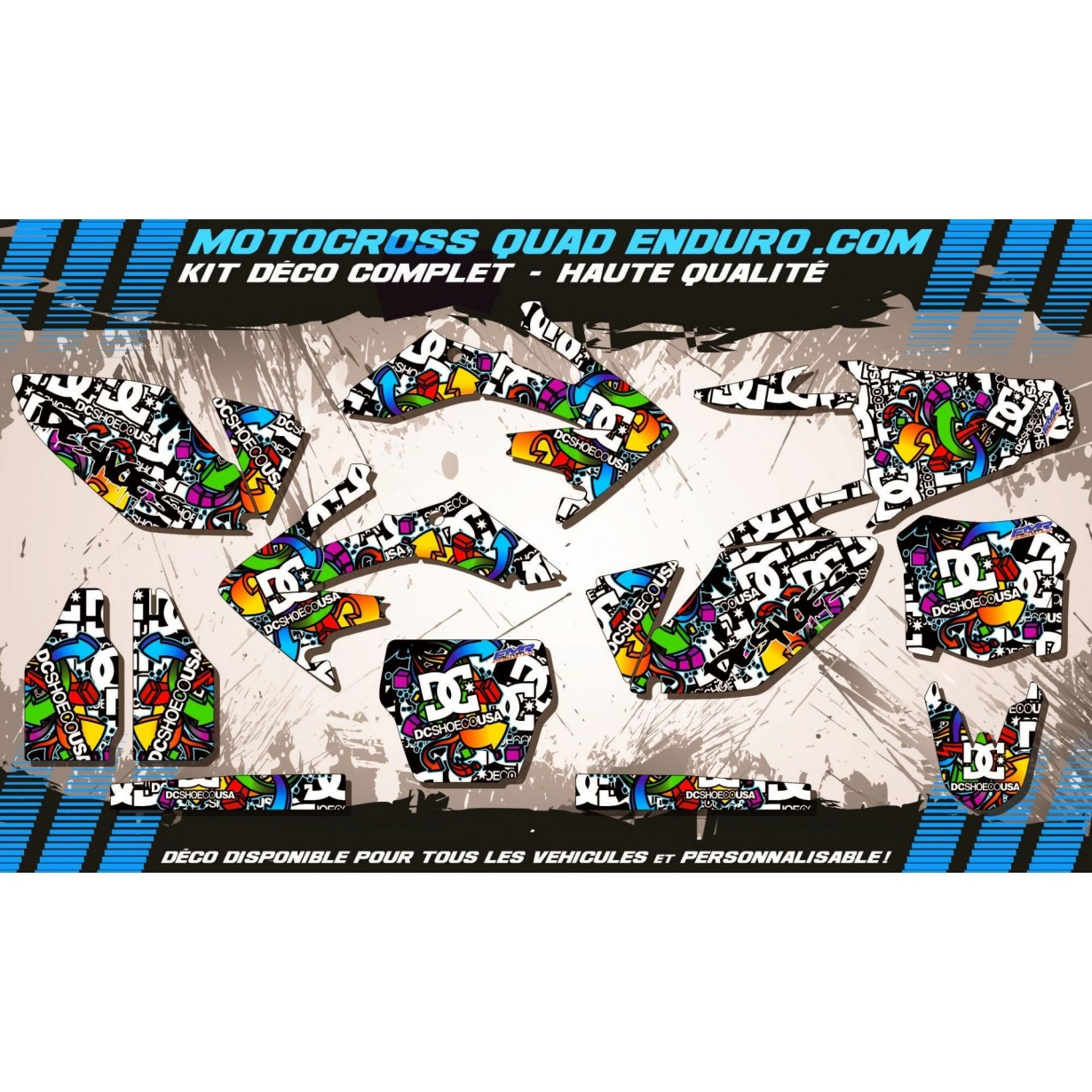 KIT DÉCO Perso 250 CRF 06-09 DC Shoes MA14A