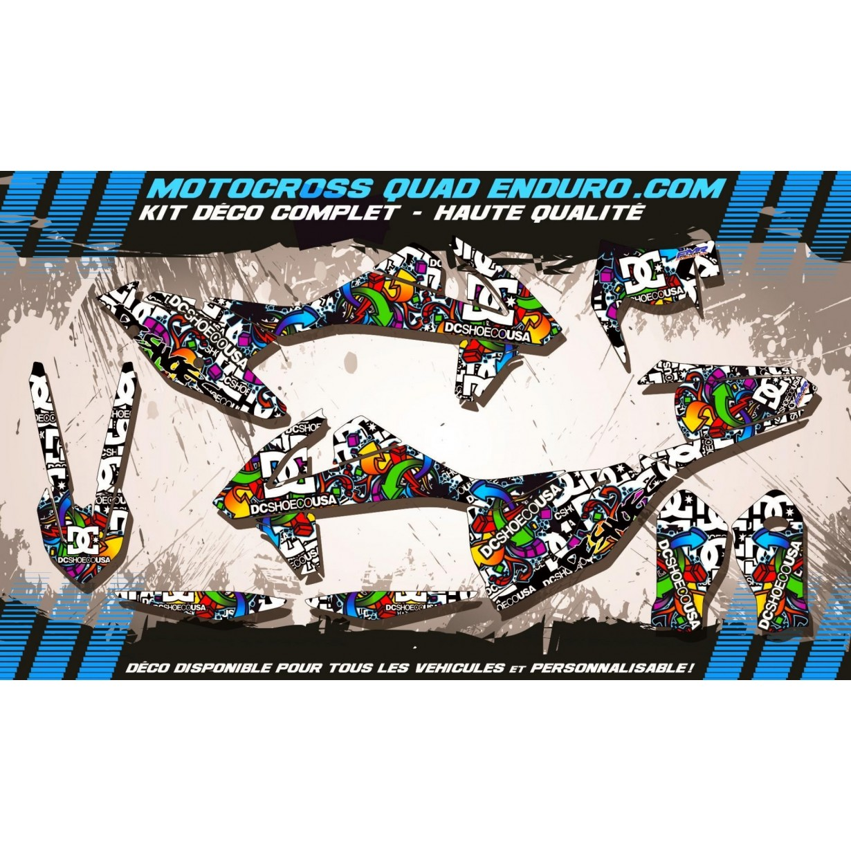 KIT DÉCO Perso EXC XC XCF 2017 DC Shoes MA14A