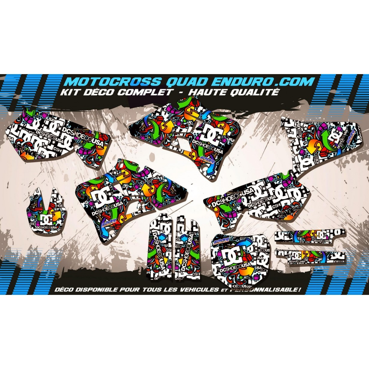 KIT DÉCO Perso 125-250 YZ 96-01 DC Shoes MA14A
