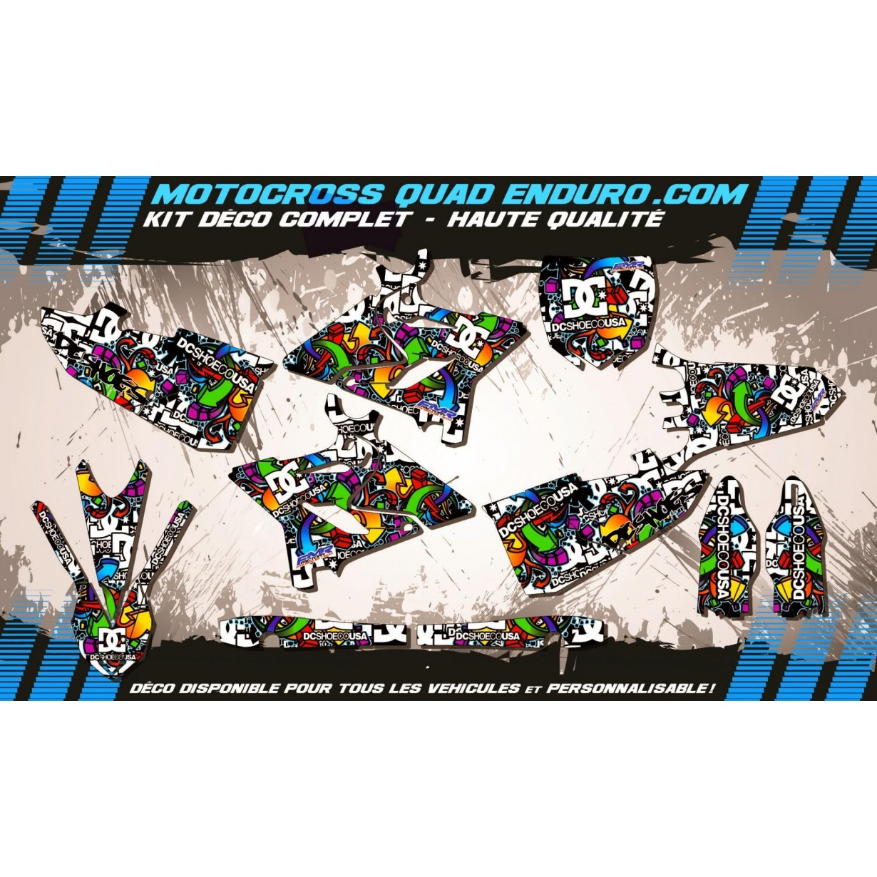 KIT DÉCO Perso 125-250 YZ 15-17 DC Shoes MA14A