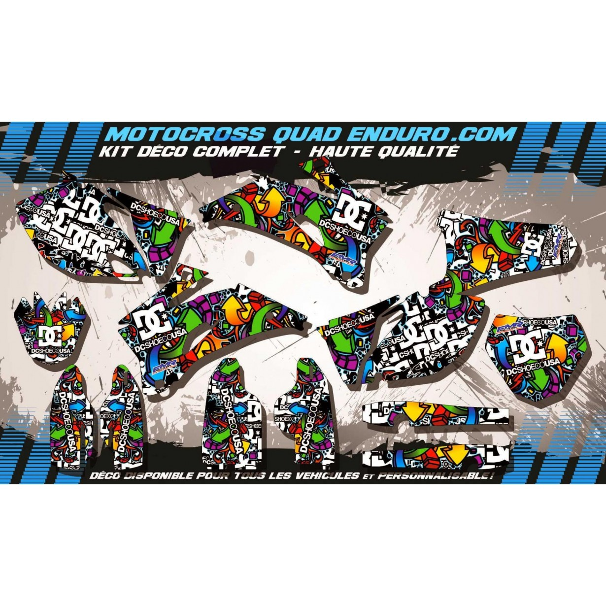 KIT DÉCO Perso 250 / 450 YZF 06-09 DC Shoes MA14A