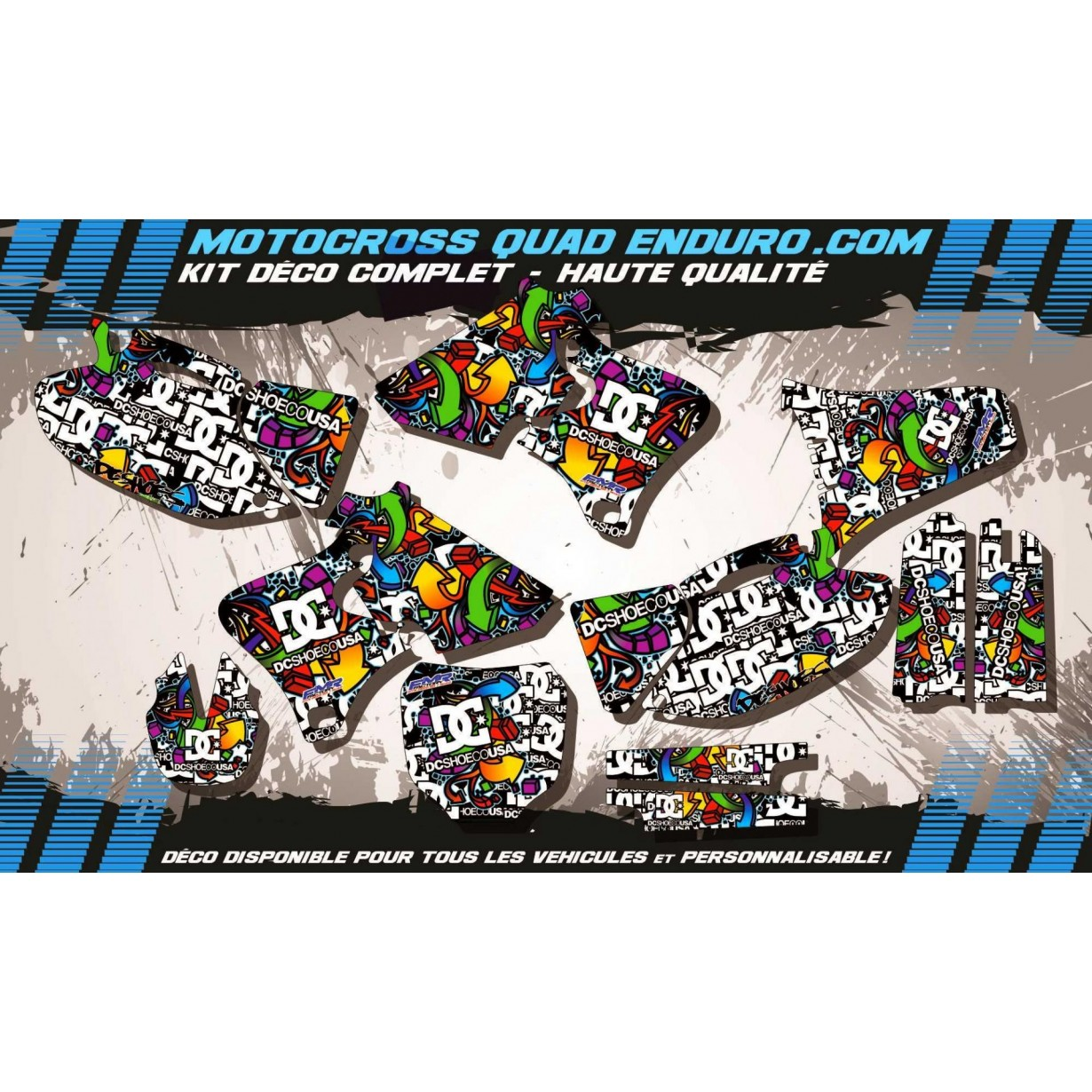KIT DÉCO Perso 250-400-426 WRF 98-02 DC Shoes MA14A