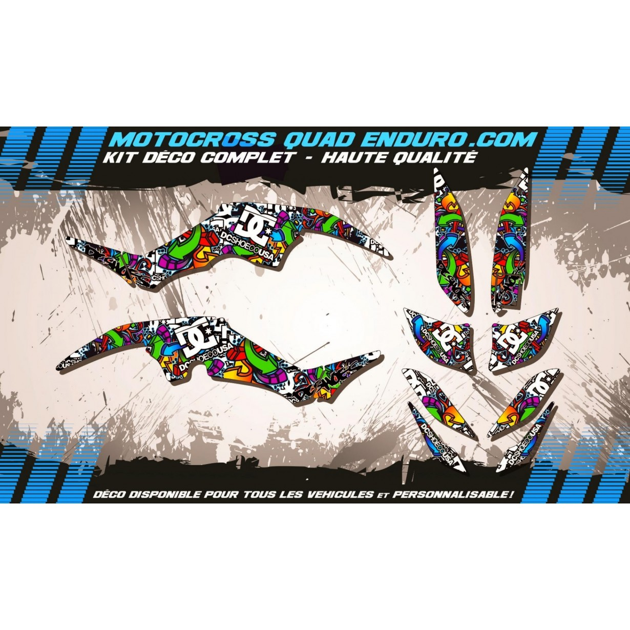 KIT DÉCO Perso 350 RAPTOR Quad DC Shoes MA14A