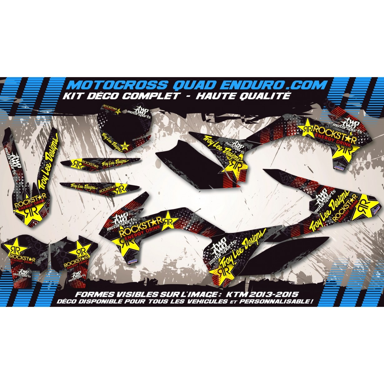 KIT DÉCO Perso 250 CR 95-96 ROCKSTAR Energy MA16A
