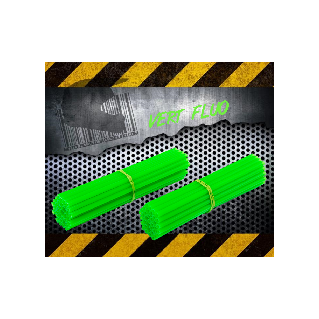 Couvres rayons vert fluo spoke coats spoke skins 2