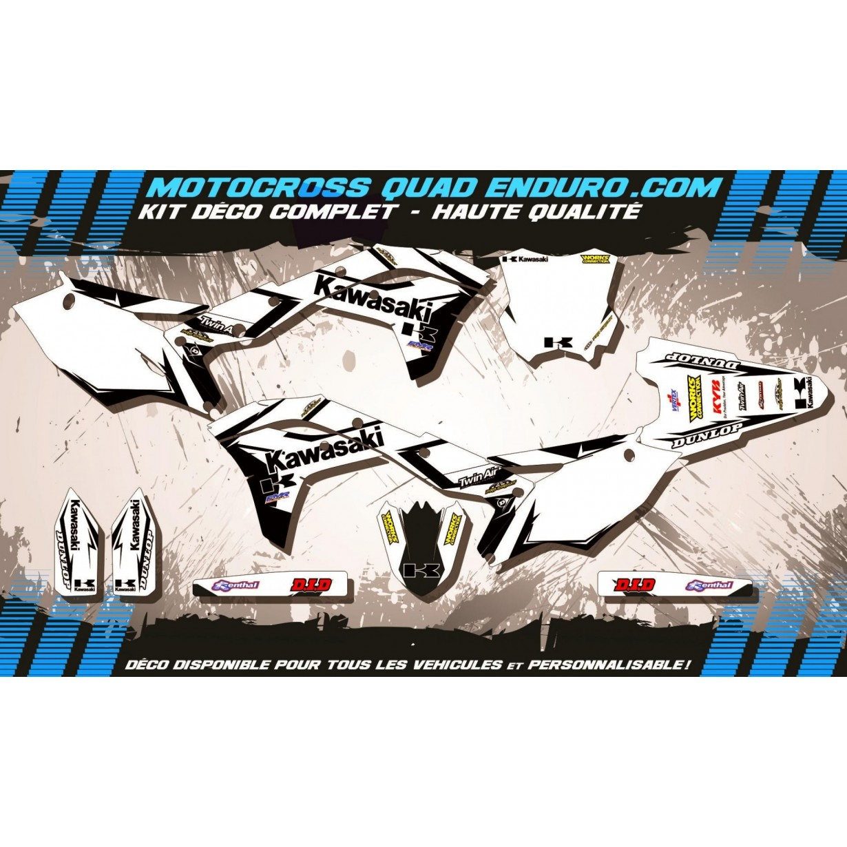 KIT DÉCO Perso 250 KXF 17-18 Factory White Edition MA10BW