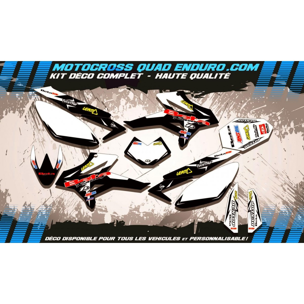 KIT DÉCO Perso 50 RR enduro 11-17 Factory Black Edition MA10GB