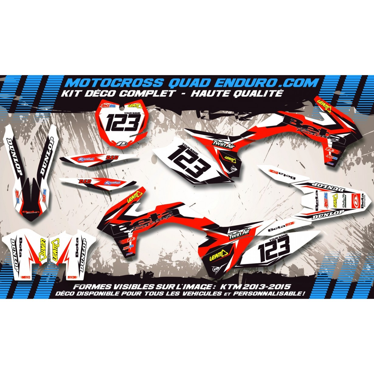 KIT DÉCO Perso 50 RR enduro 11-17 Factory Replica MA10G