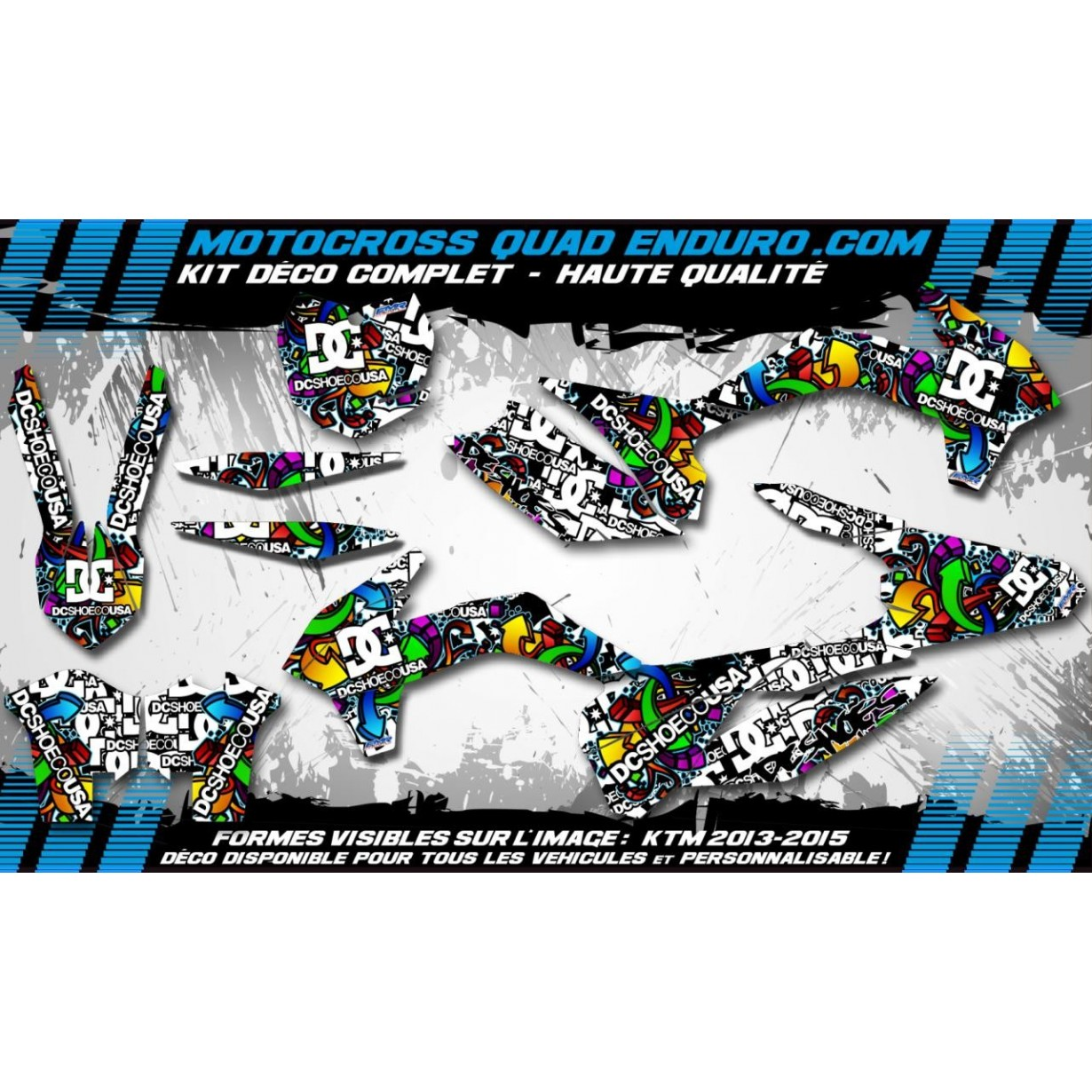 KIT DÉCO Perso 450 RMZ 2018 DC Shoes MA14A