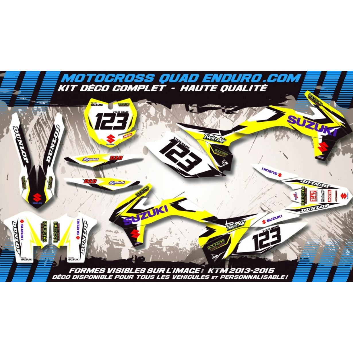 KIT DÉCO Perso 450 RMZ 2018 Factory Replica MA10D
