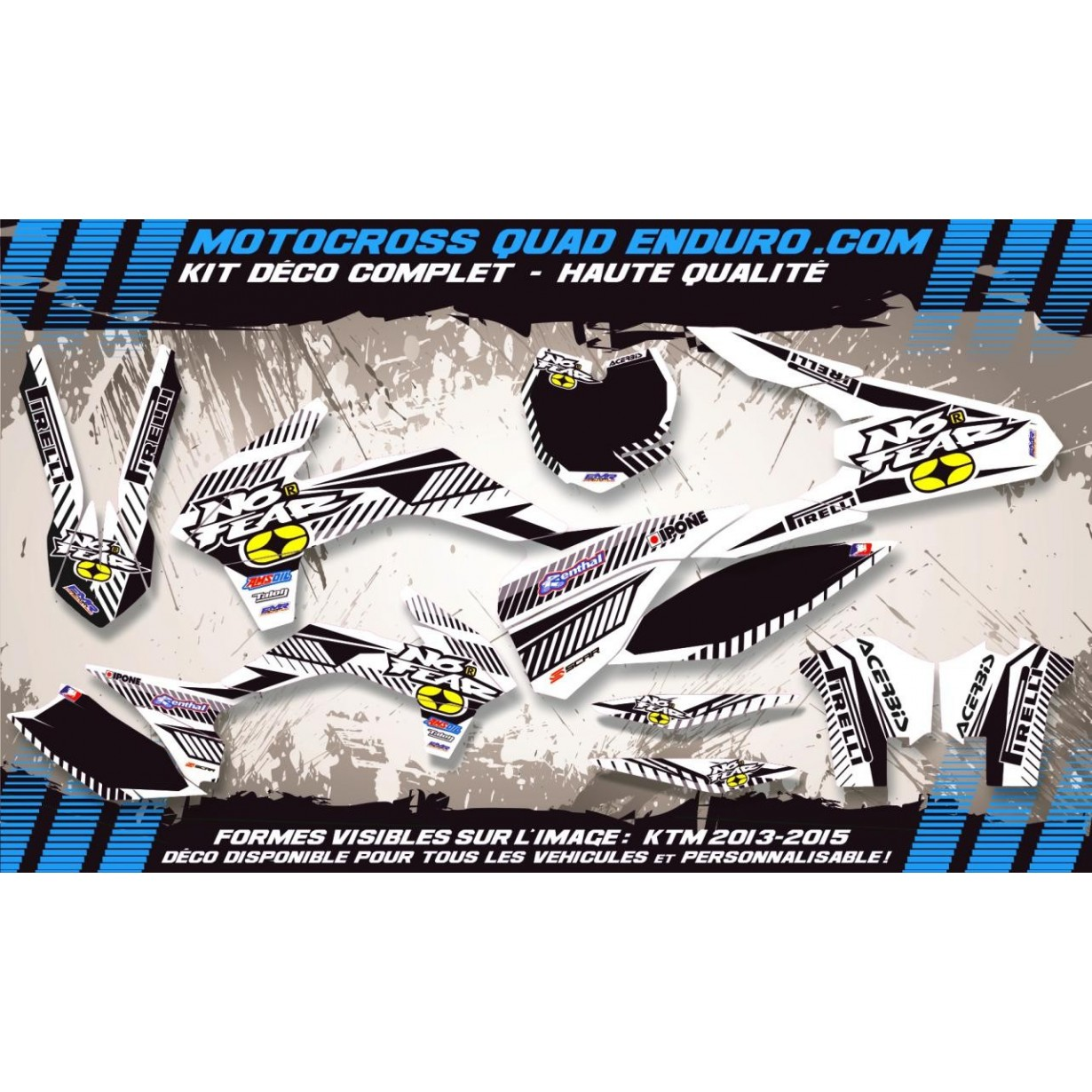 KIT DÉCO Perso 450 RMZ 2018 NO FEAR MA5F