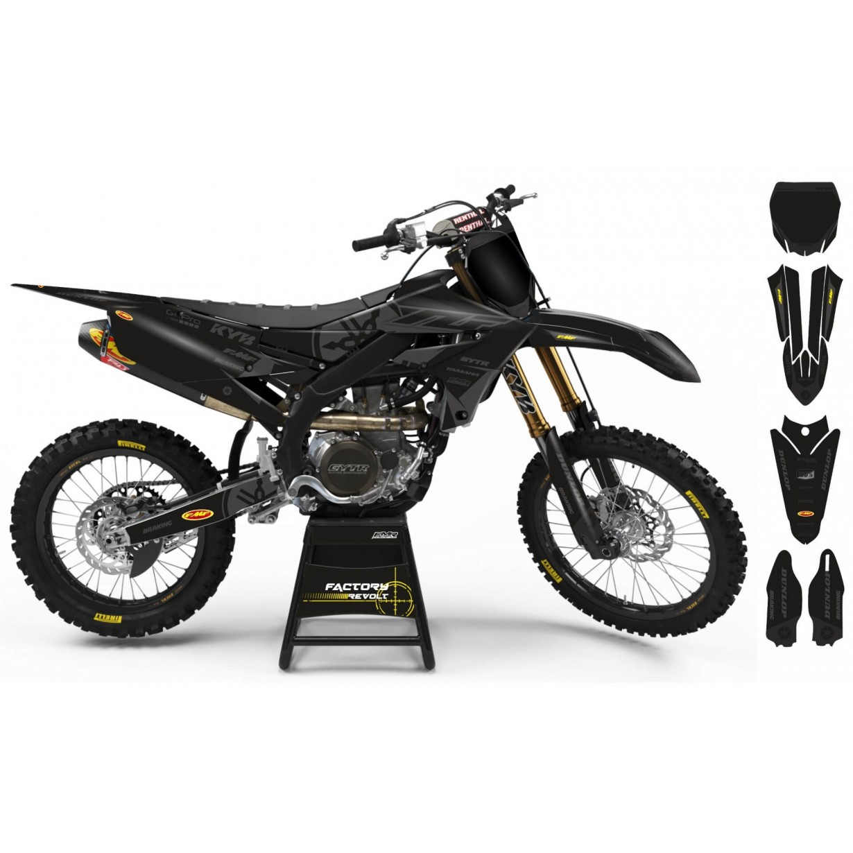 Kit déco Perso YAMAHA Factory Revolt A26E8 black/grey