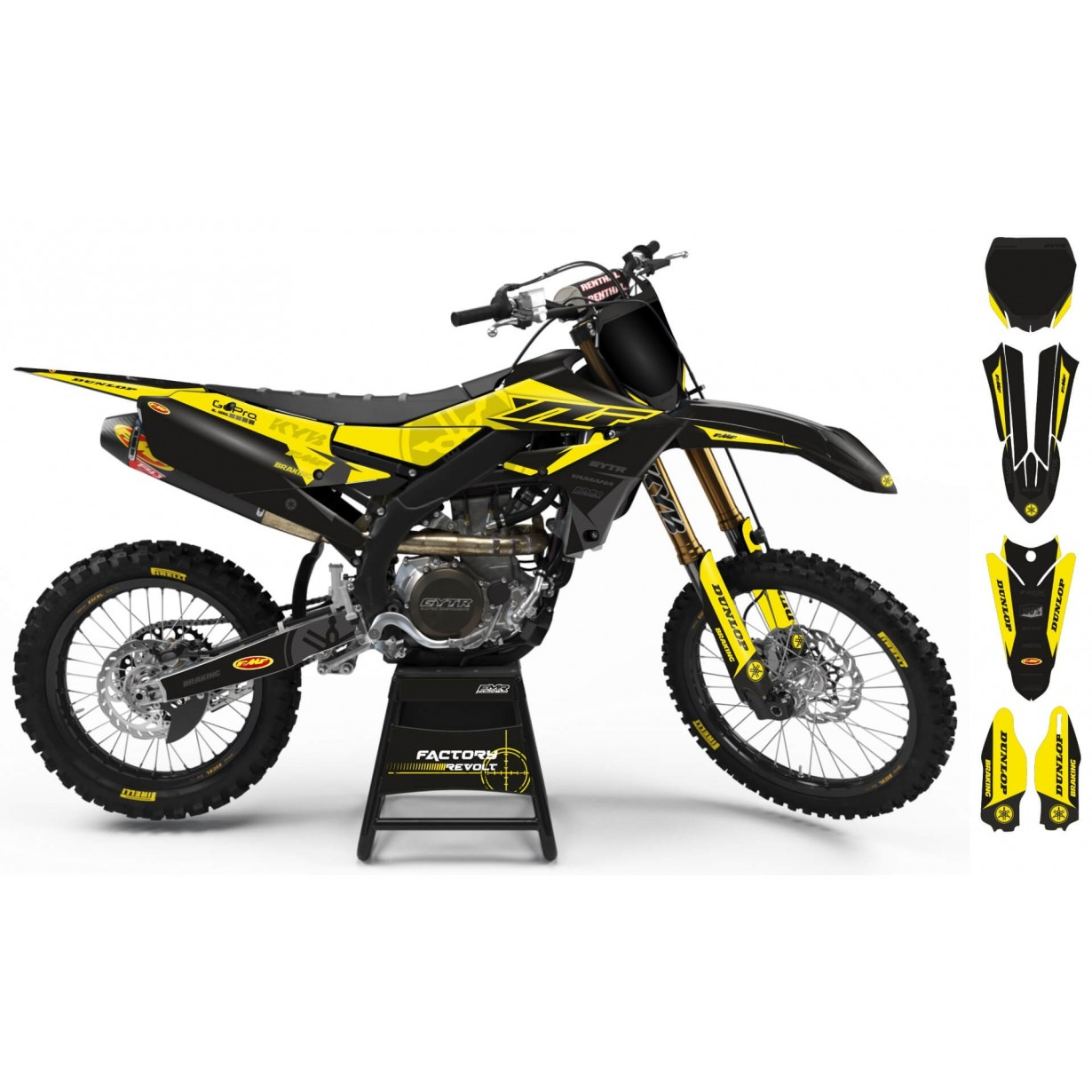 Kit déco Perso YAMAHA Factory Revolt A26E6 black/yellow