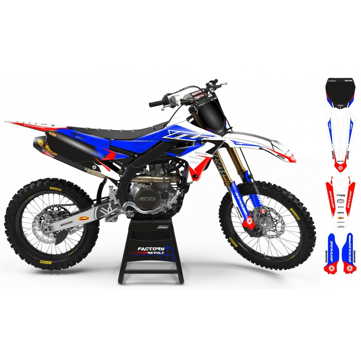 Kit déco Perso YAMAHA Factory Revolt A26E4 blue/white/red