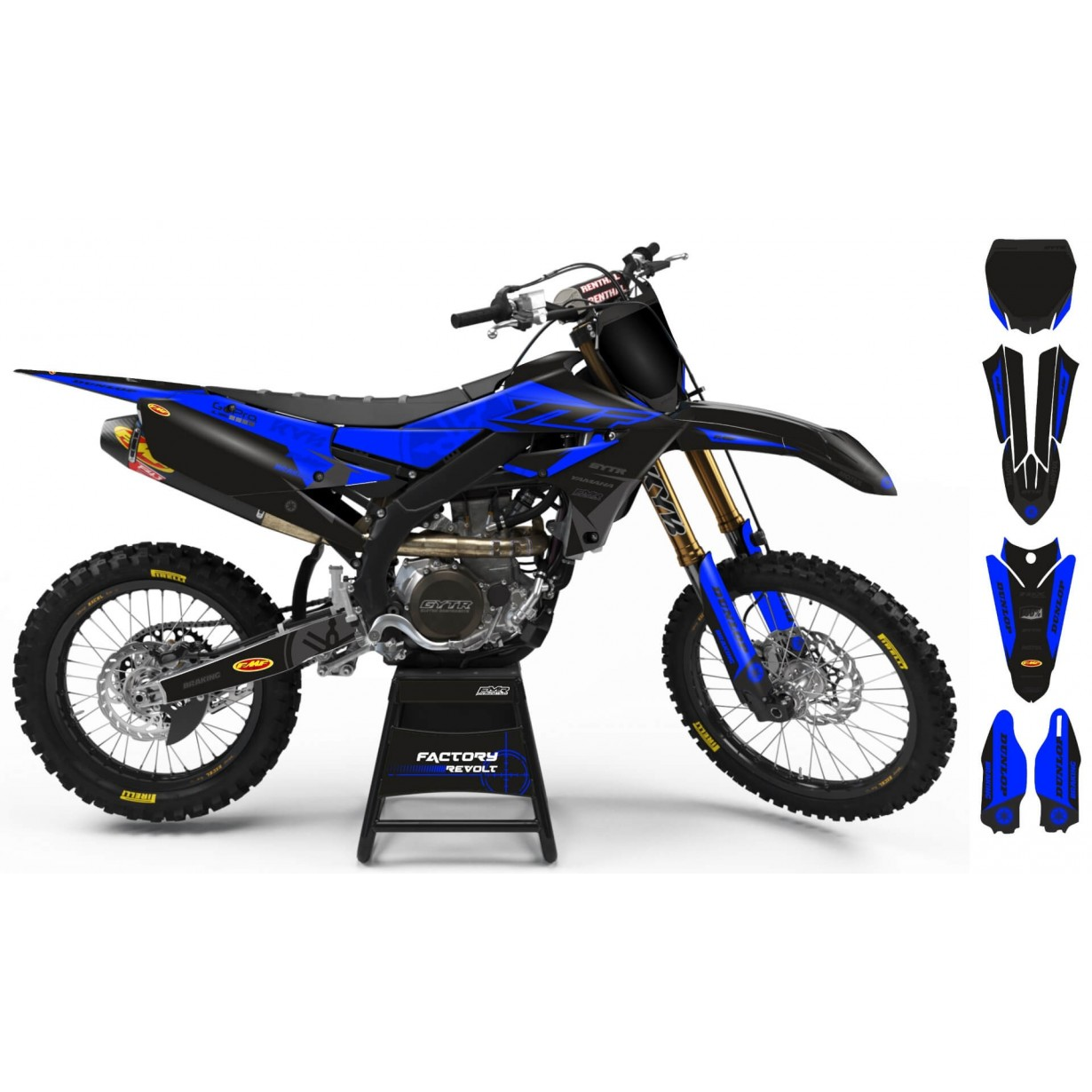 Kit déco Perso YAMAHA Factory Revolt A26E3 black/blue