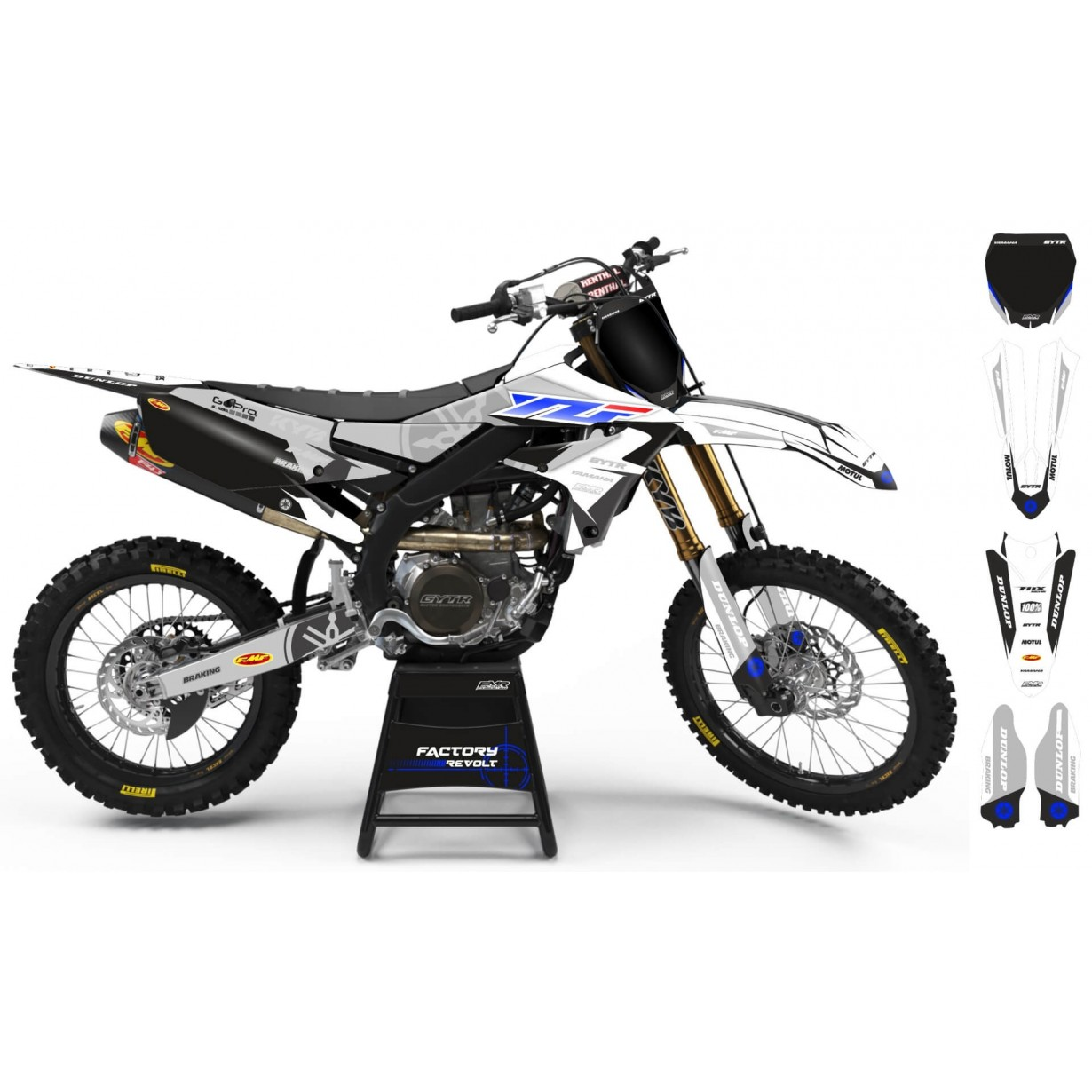 Kit déco Perso YAMAHA Factory Revolt A26E1 white/grey