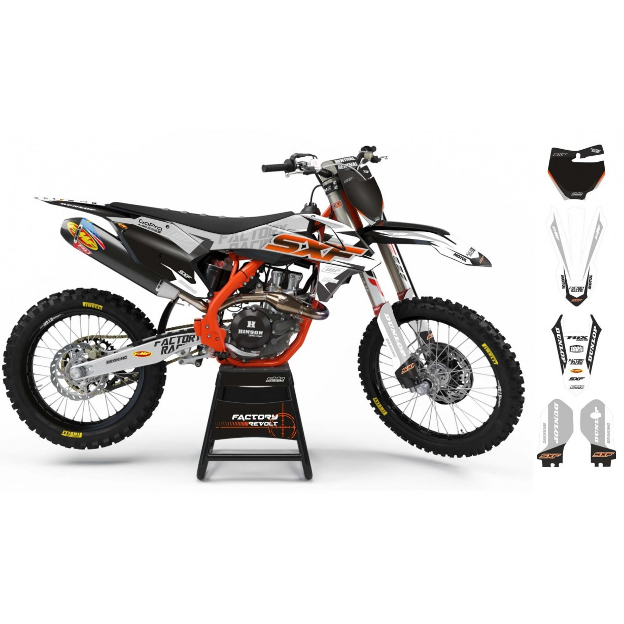 Kit déco Perso KTM Factory Revolt A26C1 white/grey