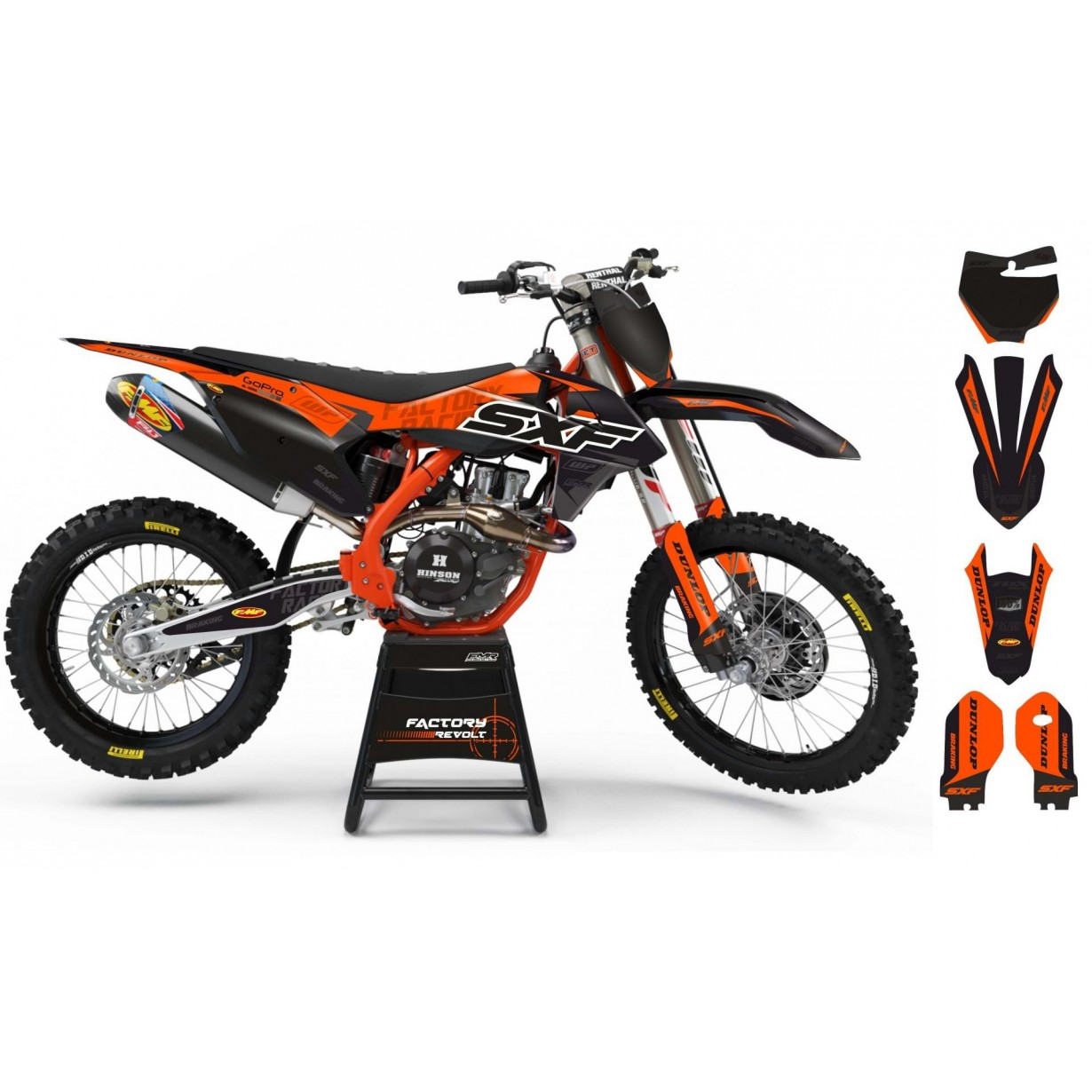 Kit déco Perso KTM Factory Revolt A26C3 orange/black