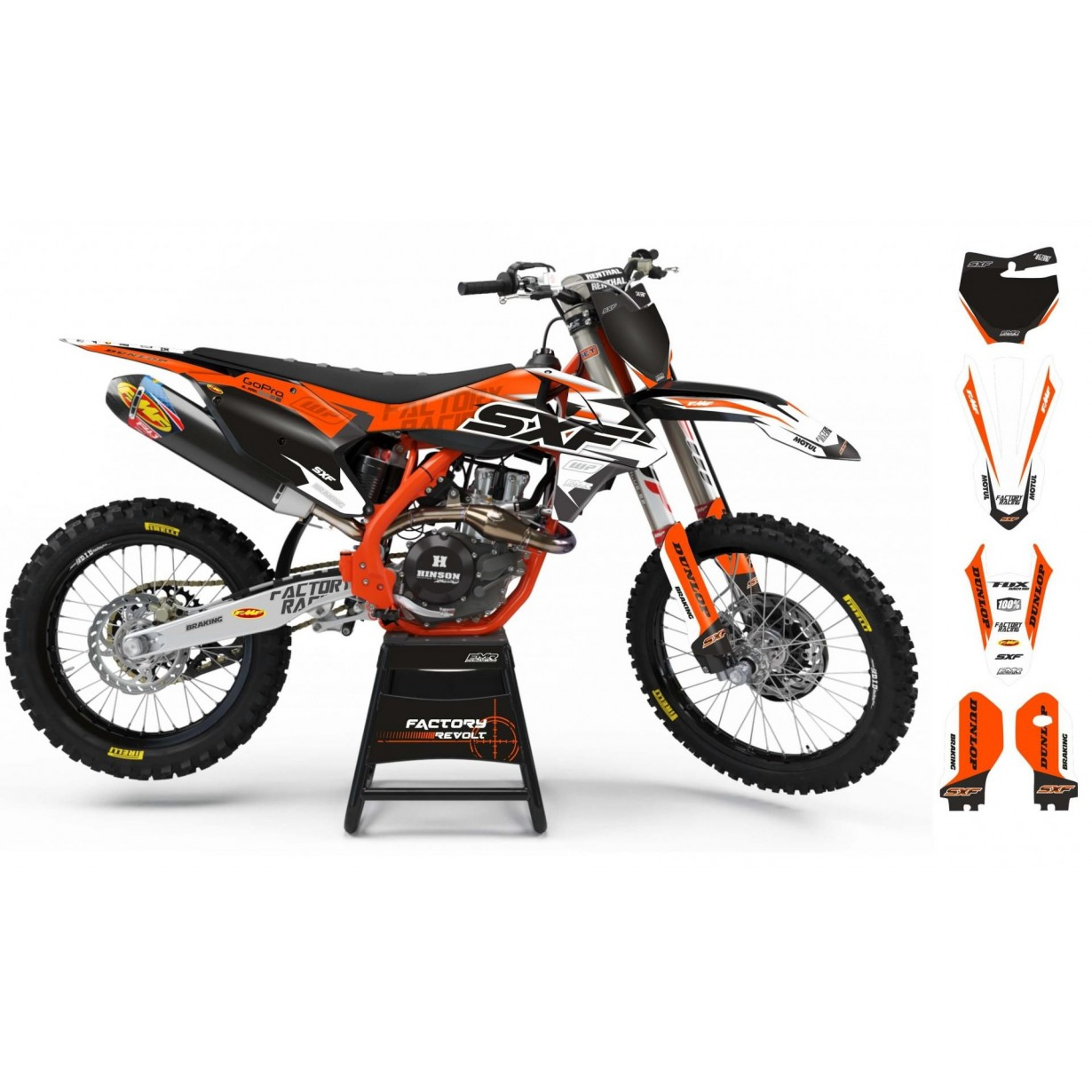 Kit déco Perso KTM Factory Revolt A26C5 white/orange