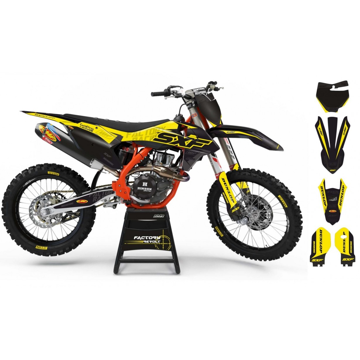 Kit déco Perso KTM Factory Revolt A26C6 black/yellow