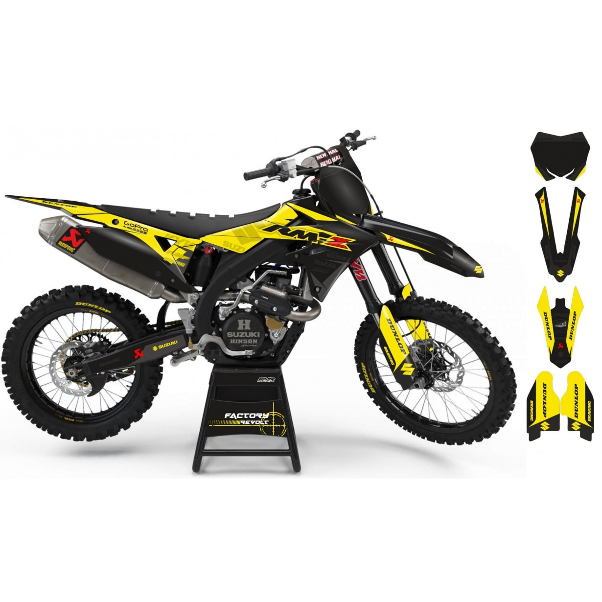 Kit déco Perso SUZUKI Factory Revolt A26D3 black/yellow