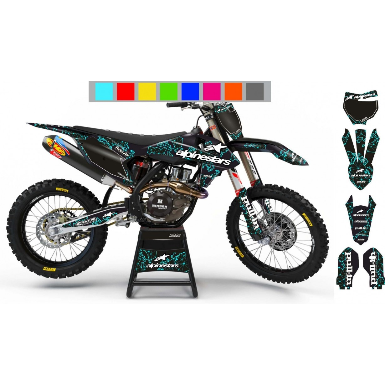 Kit deco Perso ALPINESTARS ADN