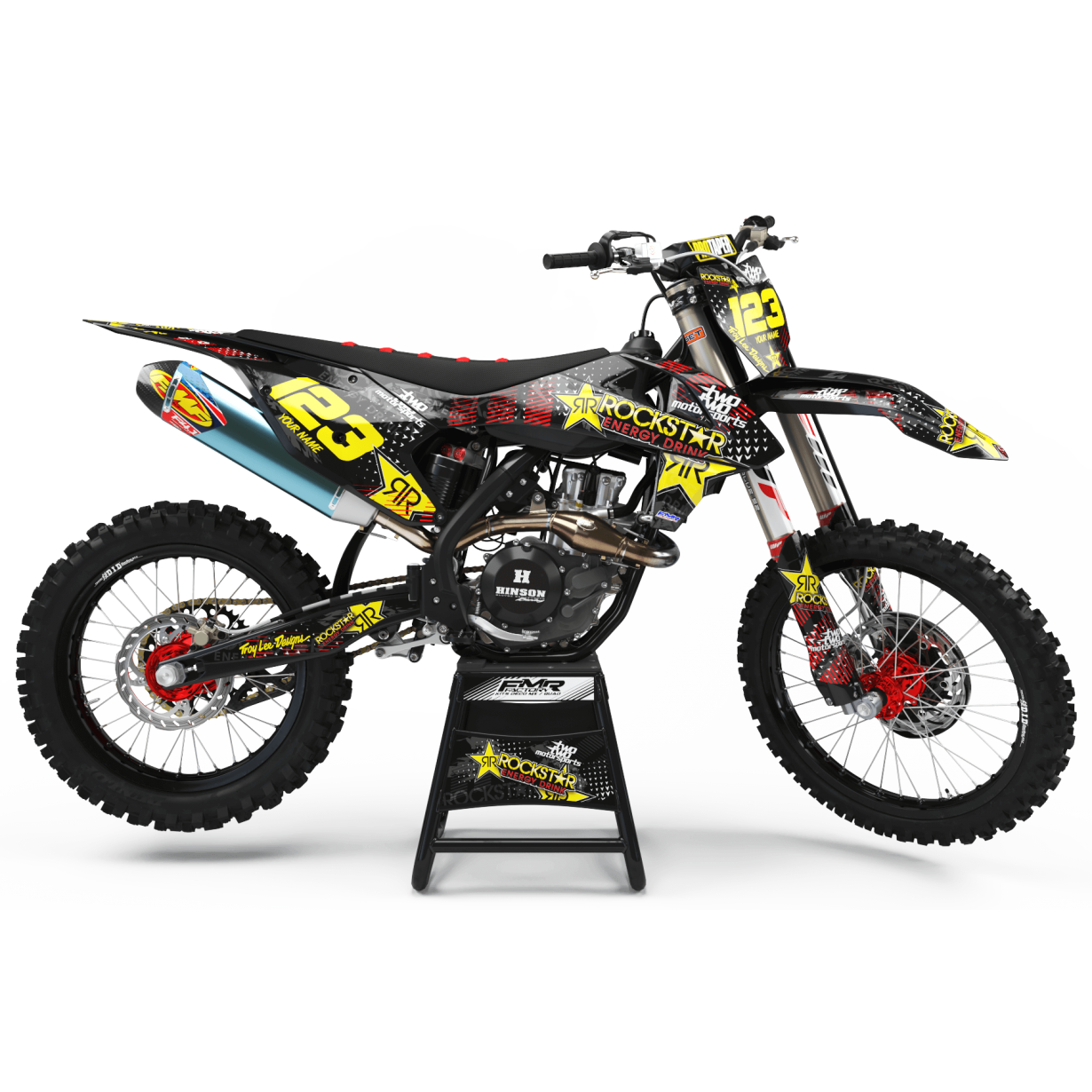 Kit deco Perso ROCKSTAR Energy MA16A rouge