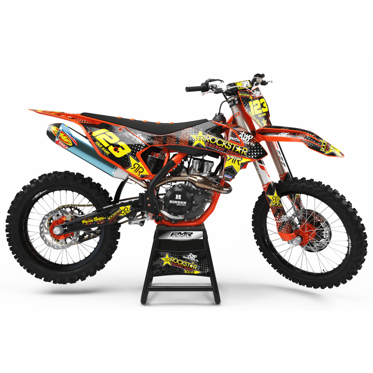 Kit deco Perso ROCKSTAR Energy MA16C orange