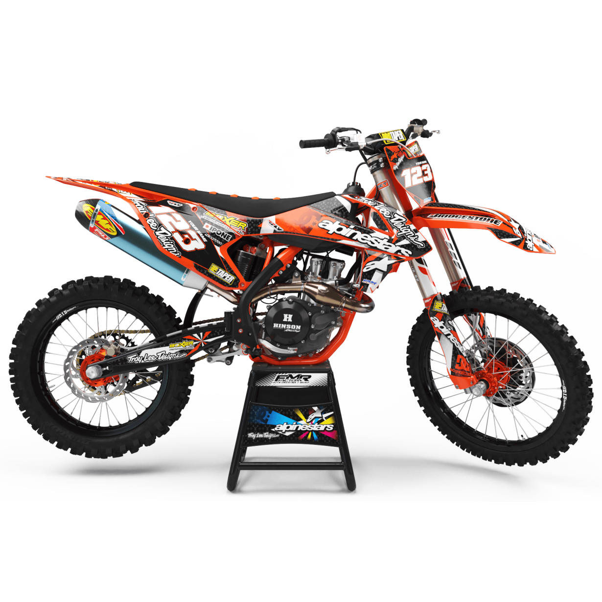 Kit deco Perso ALPINESTARS A4F orange