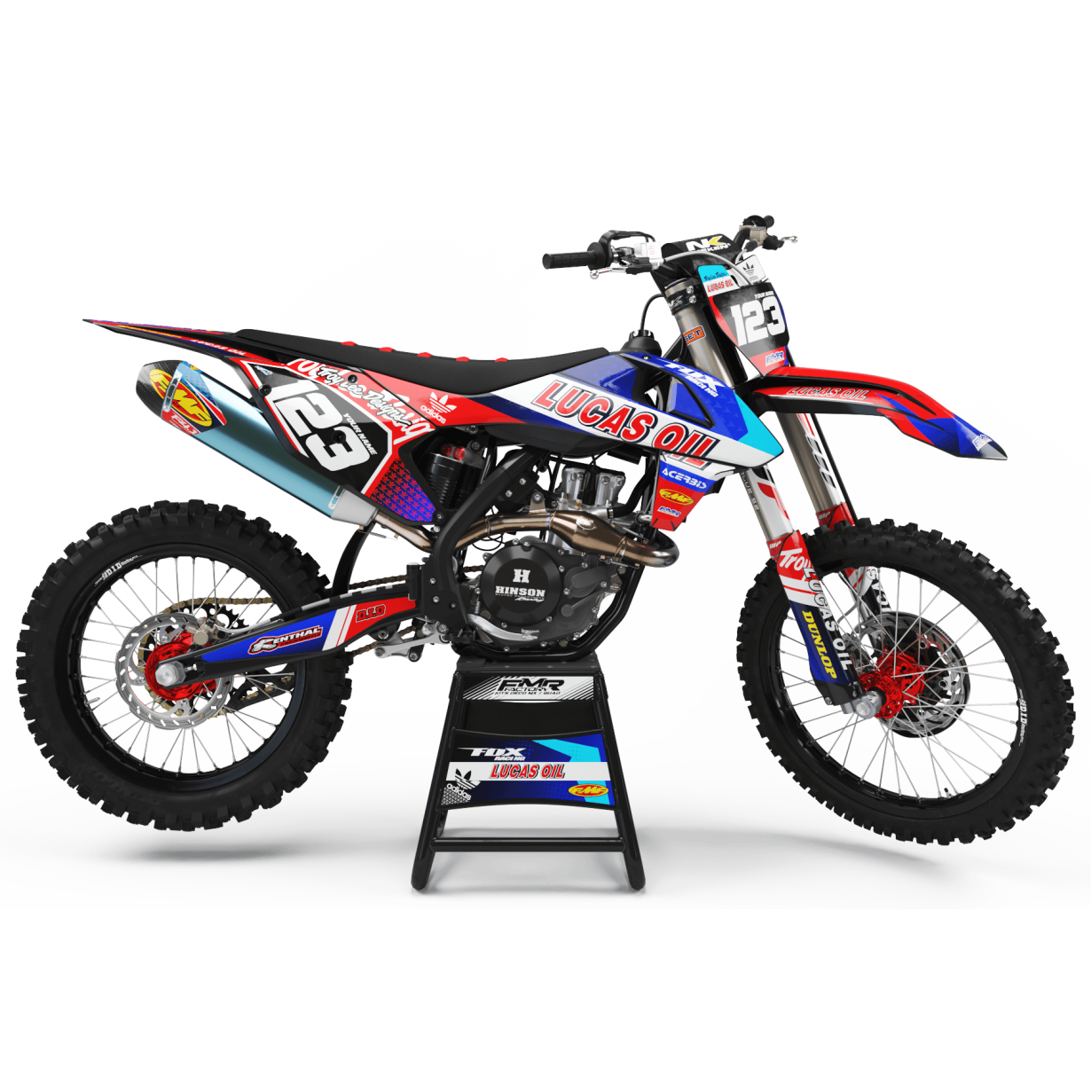 Kit deco Perso LUCAS OIL MA23A rouge