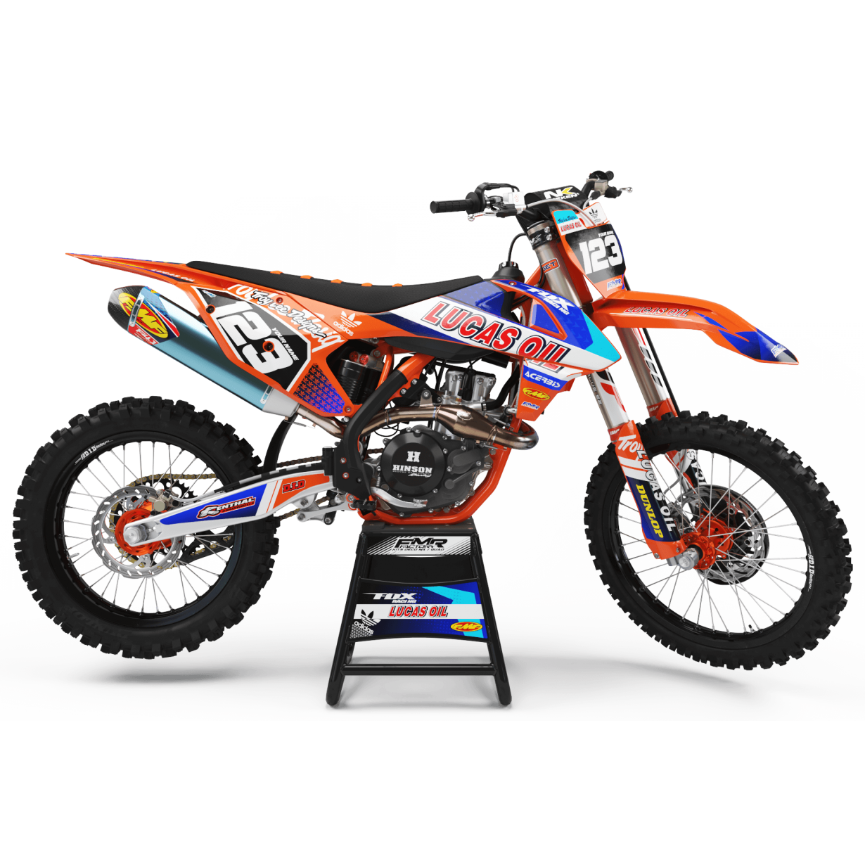 Kit deco Perso LUCAS OIL MA23C orange