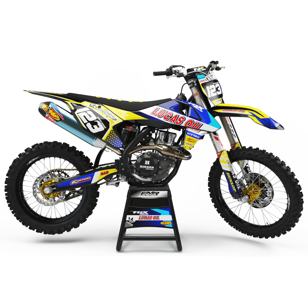 Kit deco Perso LUCAS OIL MA23D jaune