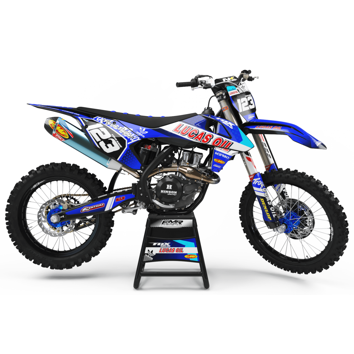 Kit deco Perso LUCAS OIL MA23E bleu