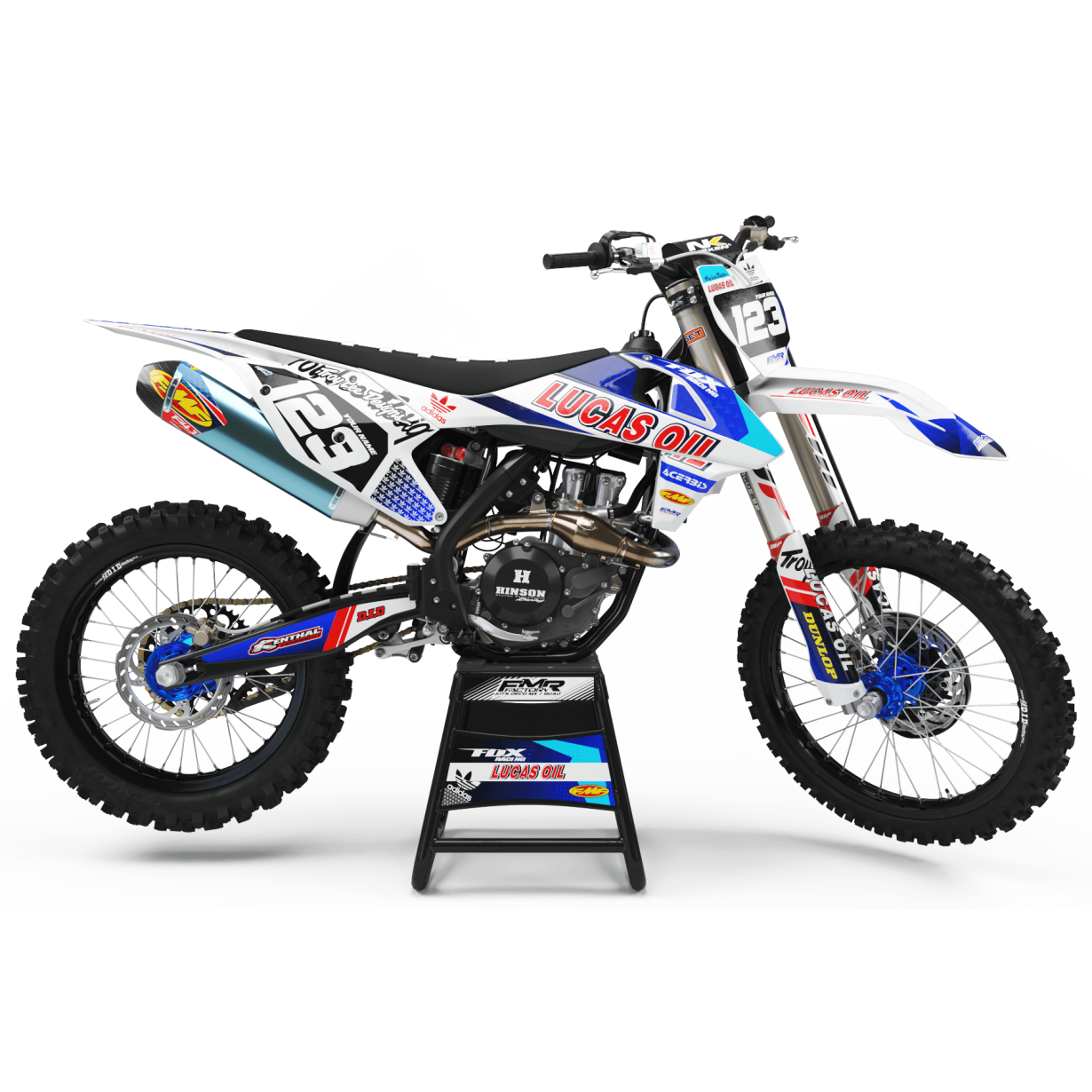 Kit deco Perso LUCAS OIL MA23G blanc