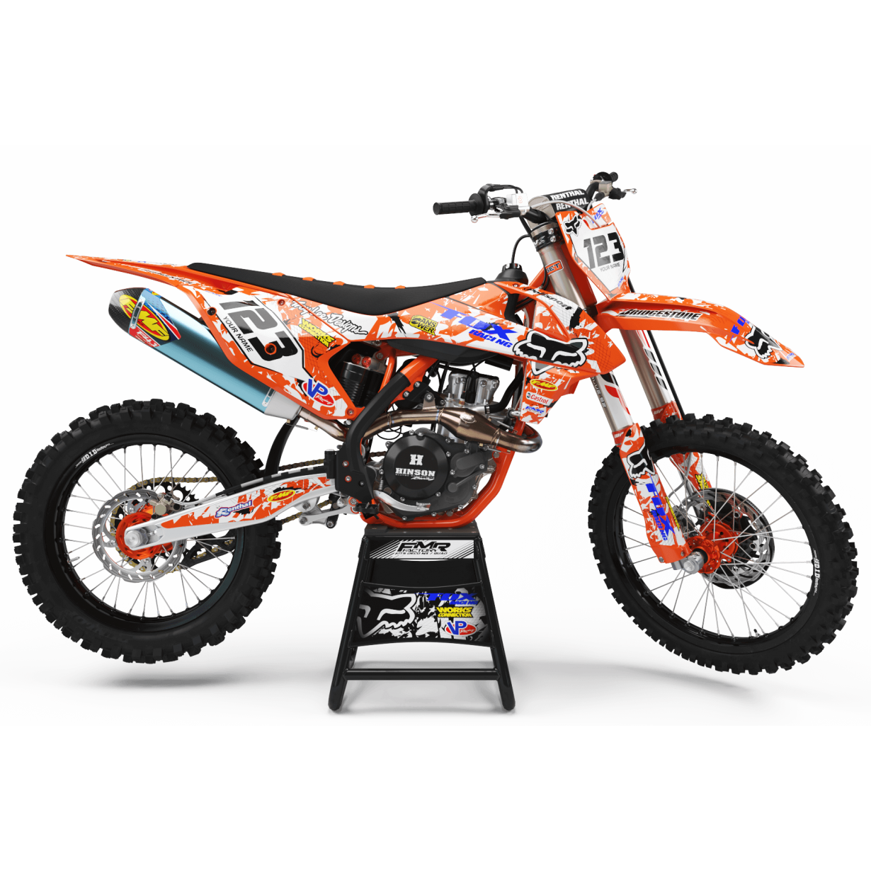 Kit deco Perso FOX MA9C orange