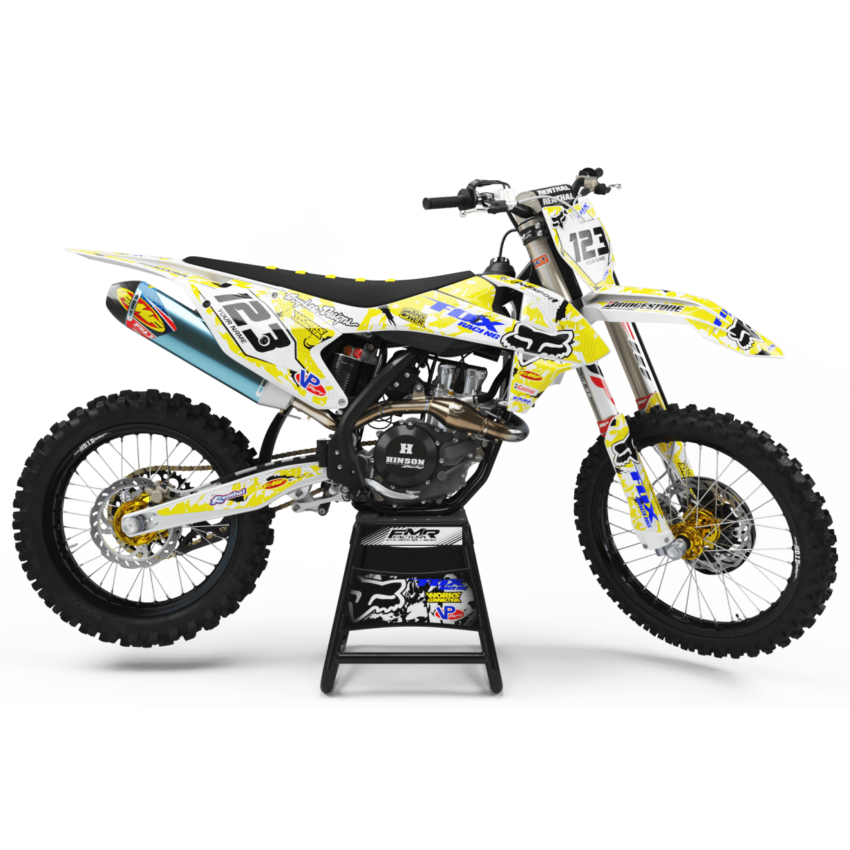Kit deco Perso FOX MA9D jaune